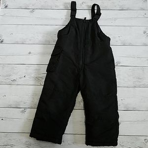 Girls/Boys 4T Bibbed Black snow pants